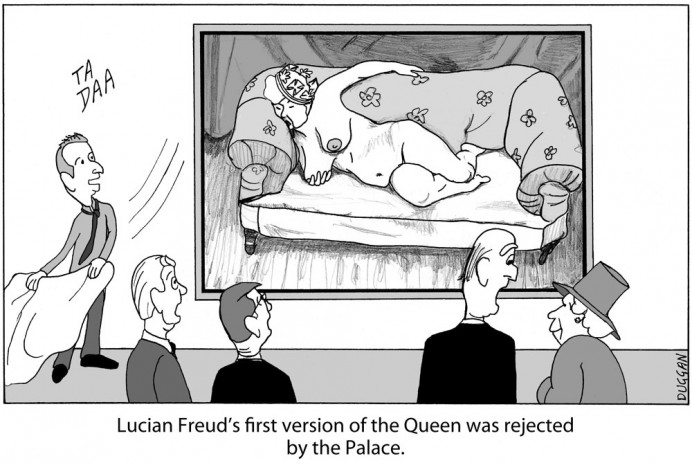 Lucian Freud meets the Queen
