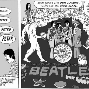 Beatles archives art inspired greeting cards and cartoons artoons blake ono greeting card m4hsunfo