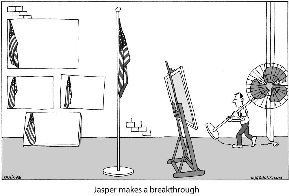 Jasper Johns makes a breakthrough