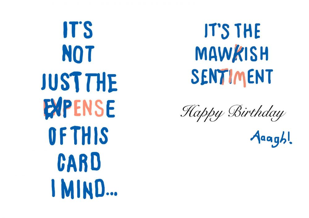 It's not just the expense of this card I mind