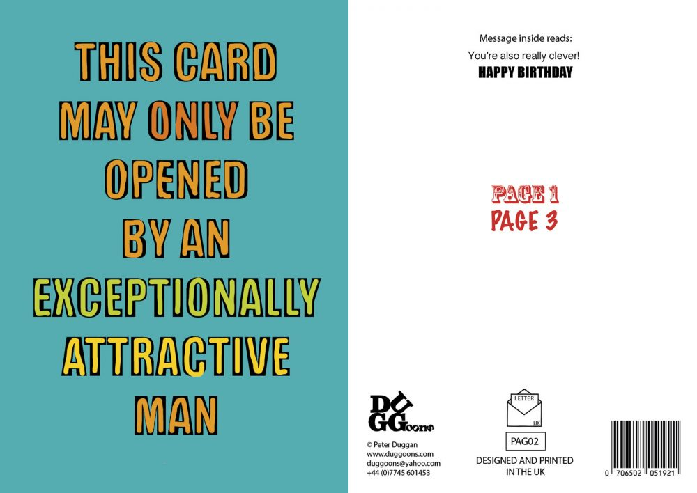 Card can only be opened by an extremely attractive man