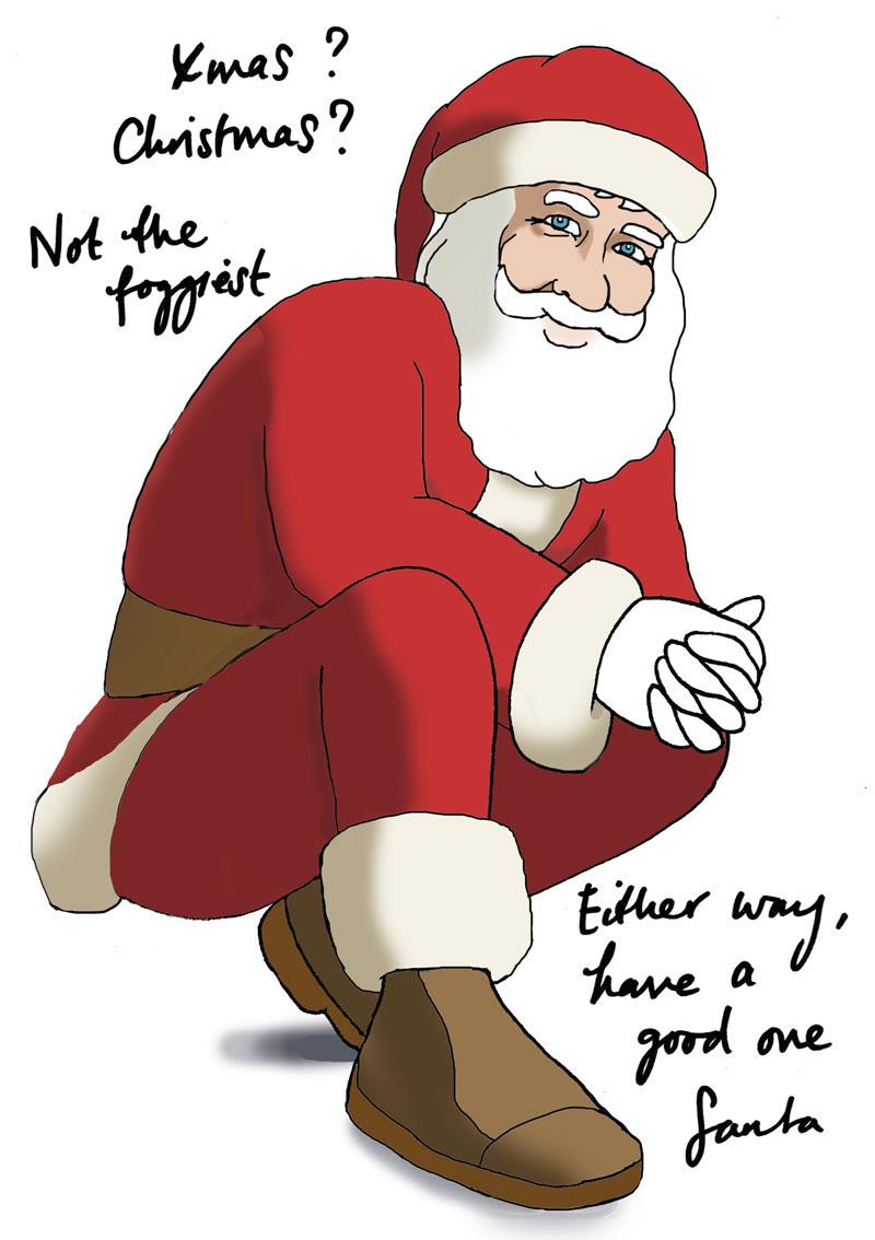 Xmas? Or Christmas? Santa wants to know.