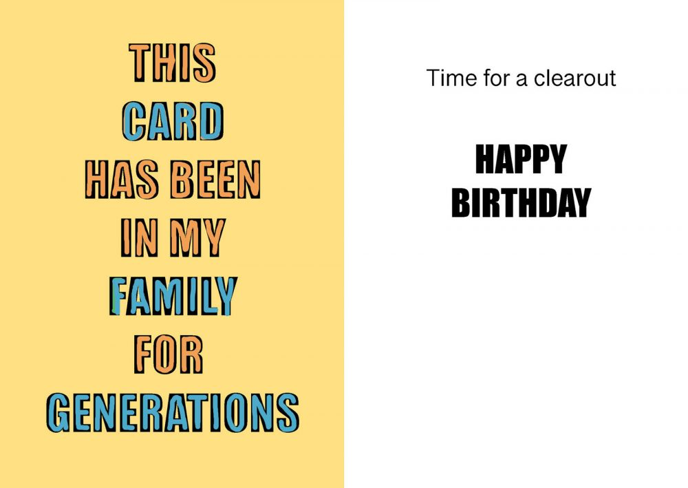 This card has been in my family for generations