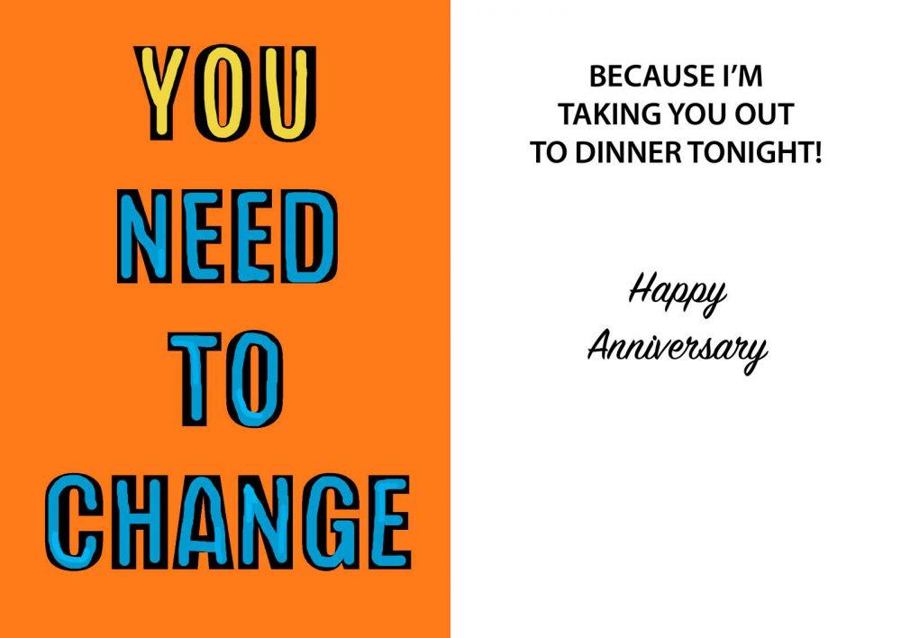 You need to change